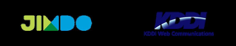 JImdoとKDDIウェブコミュニケーションズのロゴ