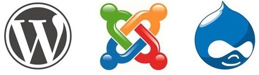 Wordpress・Joomla・Drupalのロゴ