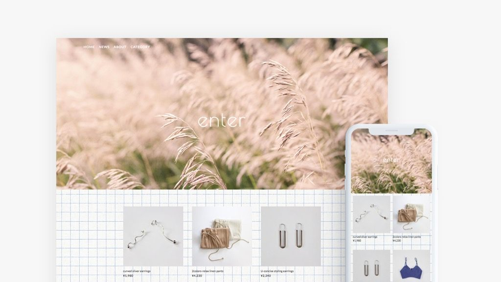 STORES.jpテンプレート「WIDE VISUAL_gridpaper」