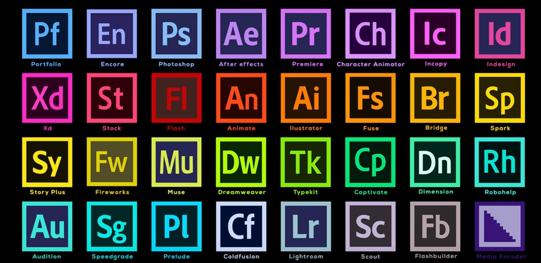 Adobeソフト・アプリ一覧