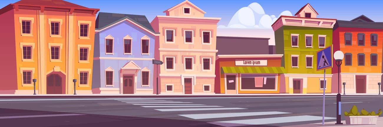 ストリートと建物
